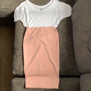 Nude (peach) Pencil Skirt